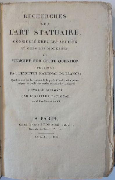 ÉMERIC-DAVID (Toussaint-Bernard). Recherches...