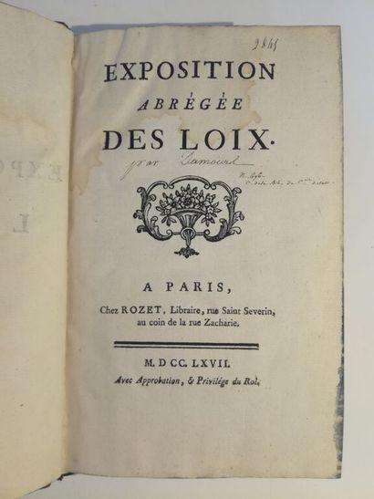 [DAMOURS (Louis)]. Exposition abrégée des...