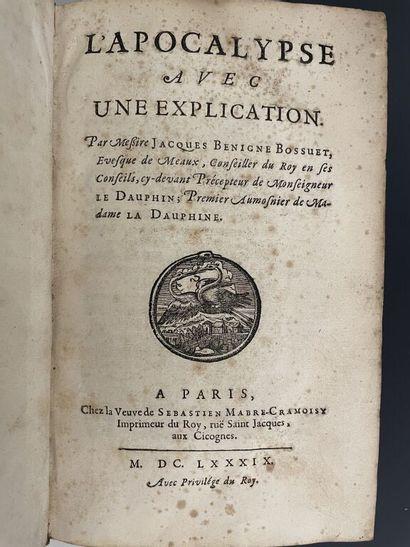 BOSSUET (Jacques Bénigne). L'Apocalypse avec...