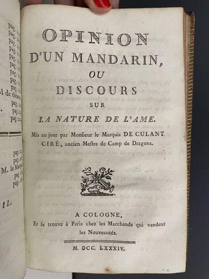CULANT (René Alexandre de). Morale enjouée, ou Recueil de fables, contes, épigrammes,...