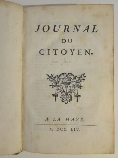[JÈZE]. Journal du citoyen. A La Haye [i.e....