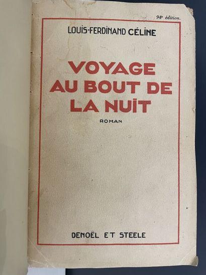 CÉLINE (Louis-Ferdinand). Réunion de 3 ouvrages...