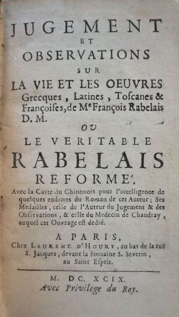 [BERNIER (Jean)]. Jugement et observations sur la vie et les oeuvres grecques, latines,...