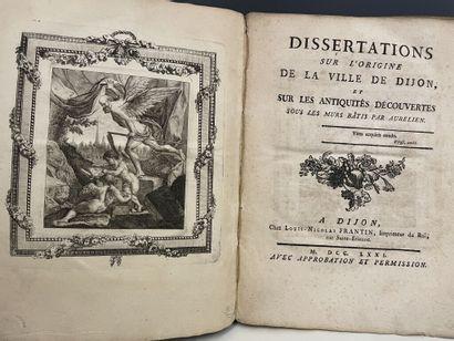 [LEGOUX DE GERLAND (Bénigne)]. Dissertations...