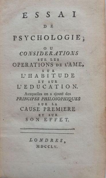[BONNET (Charles)]. Essai de psychologie,...
