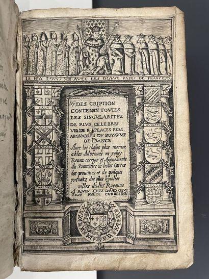 DES RUES (François). Description contenant...