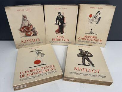 LOTI (Pierre). Réunion de cinq ouvrages illustrés....