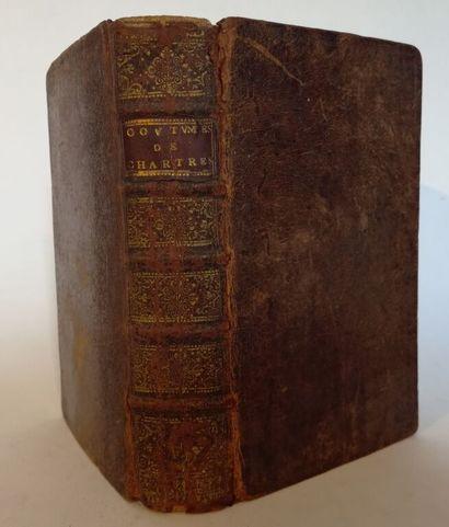 [Coutume. Chartres. 1710]. Coutumes du duché, bailliage et siège présidial de Chartres,...