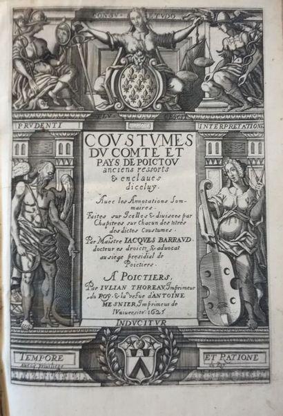 [Coutume. Poitou. 1625]. BARRAUD (Jacques)....