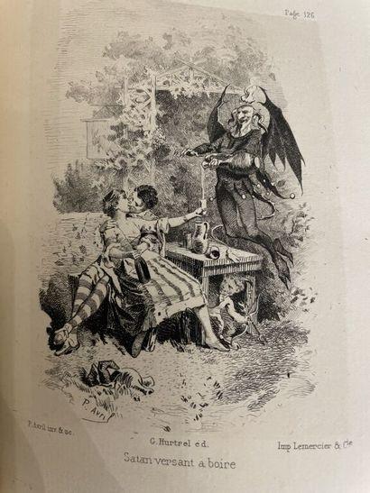 AMERVAL (Eloy d'). La grande diablerie, poème...