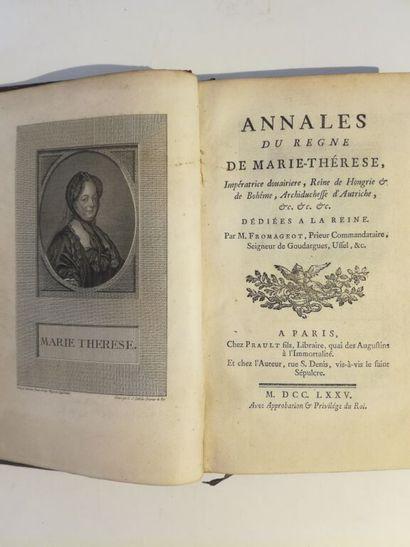 FROMAGEOT (Pierre). Annales du règne de Marie-Thérèse,...