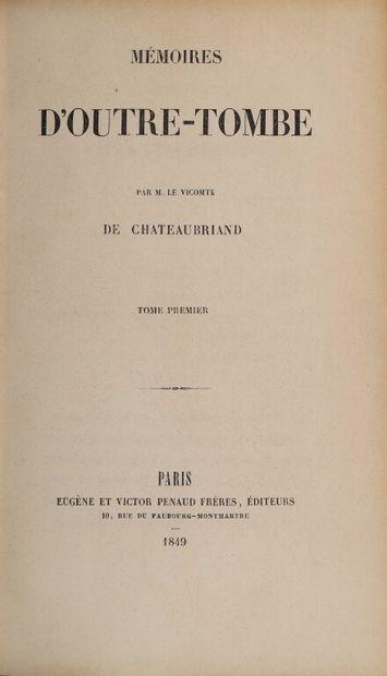 CHATEAUBRIAND (François-René de). Mémoires...