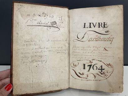 [Manuscrit]. [Mathématique]. CLAUZEL (Pierre). Livre d'arithmetiq[ue] fait par moy...