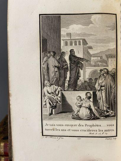 [Bible illustrée. N.T. Latin-Français. 1793]. Le Nouveau Testament en latin et en...