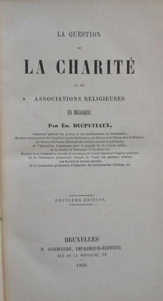 DUCPETIAUX (Édouard). La question de la charité...