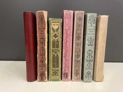 [Almanachs]. Ensemble de 7 ouvrages.    -...