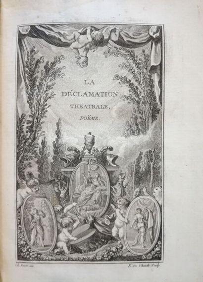 DORAT (Claude-Joseph). La déclamation théatrale,...