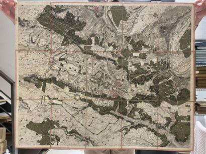 [Versailles]. [Chasses du Roi]. [Carte topographique...