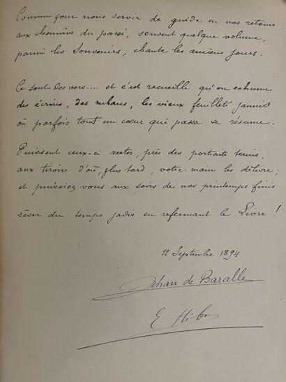 [Manuscrit]. JEHAN DE BARALLE. Rimes des...
