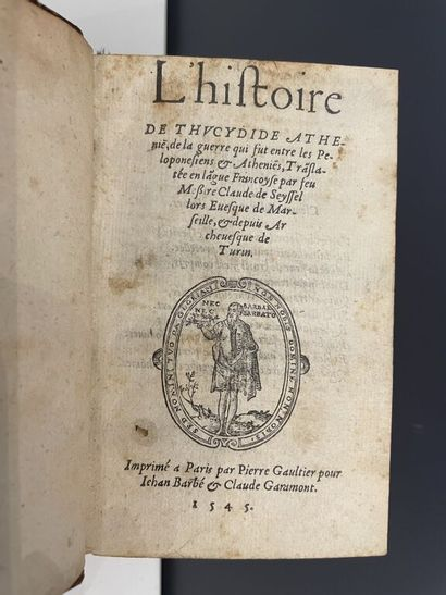 [Livre du XVIe siècle]. THUCYDIDE. L'histoire...