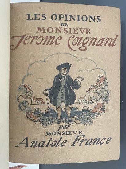 SAUVAGE. FRANCE (Anatole). Les opinions de...