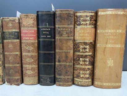 [Almanach impérial. Almanach royal. Almanach national]. Réunion de 10 almanachs...