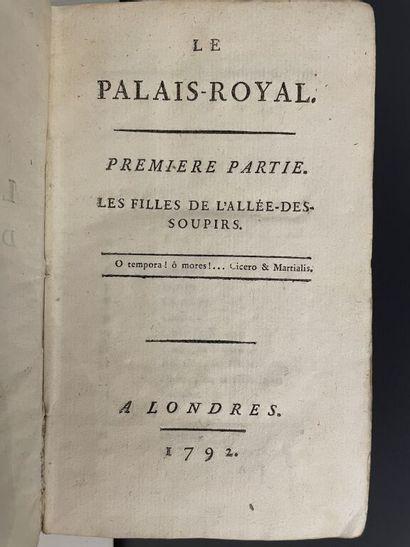 [RÉTIF DE LA BRETONNE (N.-E.)]. Le Palais-Royal....