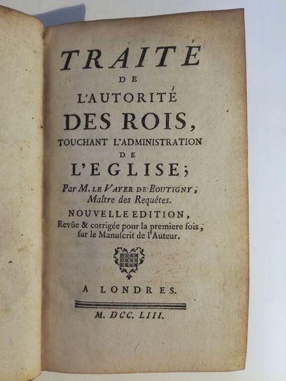 LE VAYER DE BOUTIGNY (Roland). Traité de...