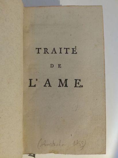 [LA METTRIE (Julien Offray de)]. Traité de...