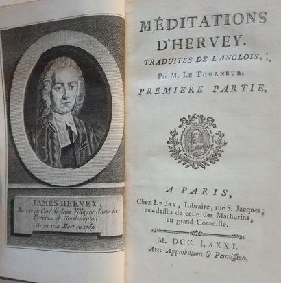 HERVEY (James). Méditations d'Hervey. Traduites...