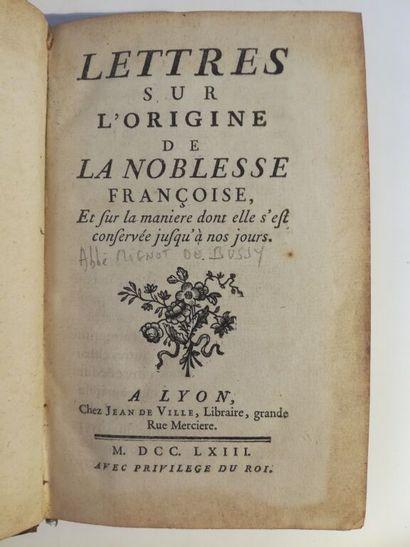 [MIGNOT DE BUSSY (abbé)]. Lettres sur l'origine...