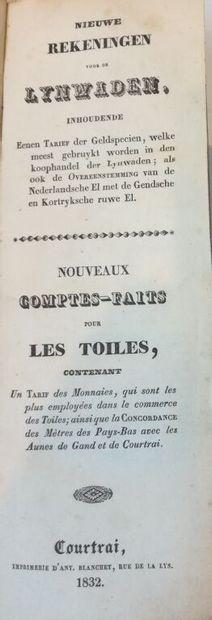 [Toiles de Courtrai (Flandres)]. Nieuwe rekeningen...