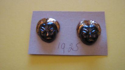 2 boutons en céramique peinte en forme de...