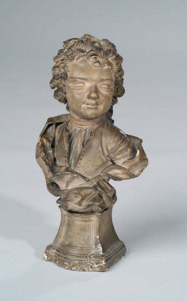 Buste d'enfant en plâtre