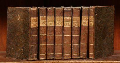 HOMERE Oeuvres complètes. 8 vol. in-12 de XXIII-[1]-283-97-266-[1]-55-317-[1]-79-314-[1]-82-XXXII-431-419-300-[4]-VI-170-[2]-32-[4]...