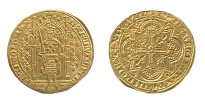 *CHARLES V (1364-1380). Franc à pied. Le...
