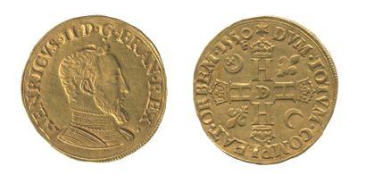 *HENRI II (1547-1559). Double Henri d'or....
