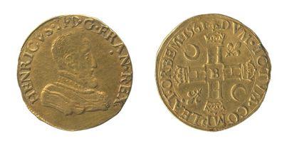 *CHARLES IX (1560-1574). Double Henri d'or...