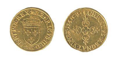 *HENRI III (1574-1589) Ecu d'or au soleil....