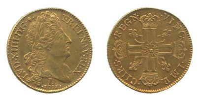 *LOUIS XIV (1643-1715). Double louis au soleil....