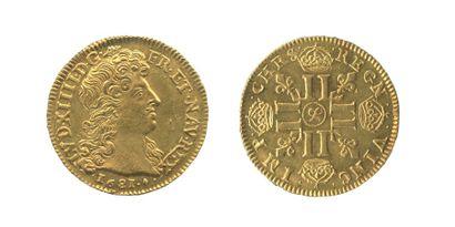*Louis au buste juvénile. Aix. 1681. (Dy....