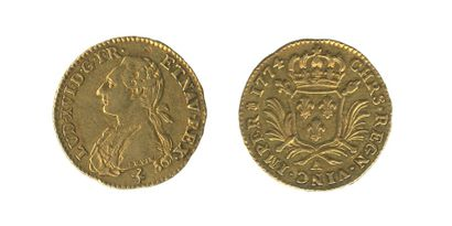 *LOUIS XVI (1774-1793). Louis aux palmes....