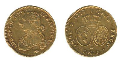 *Double louis au buste habillé. Lyon. 1777....