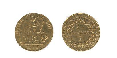 *CONVENTION (1792-1795) 24 livres. Paris....