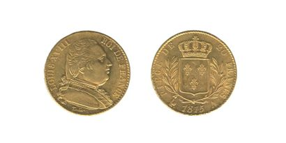 *LOUIS XVIII (1814-1824). 20 francs. Paris....