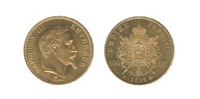 *NAPOLEON III (1852-1870). 100 francs tête...