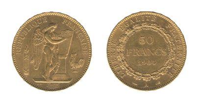 *IIIe REPUBLIQUE (1871-1940). 50 francs Génie....
