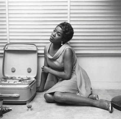 SARAH VAUGHAN  Séance photo chez Quincy Jones,...