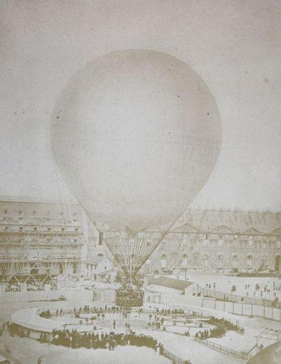 René Prudent DAGRON (1819-1900).  Grand ballon...