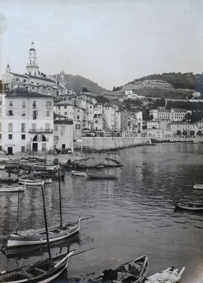 Jean GILLETTA (1856-1933).  Le port de Menton...